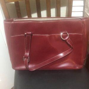 Ruby red work bag